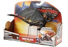 Jak vycvičit draka - Drak Bezzubka, funkční figurka. Figurka draka Bezzbuky, která mává křídly a umí vystřelovat modrý projektil z tlamy.