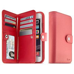 "Available soon for 6 Plus - iLuv Jstyle Runway iPhone 6 (4.7"") Case - Premium Leather Wallet Case with Saffiano Finish and Pockets to Store Credit Cards, ID and Cash for Apple iPhone 6 4.7"" -Pink with Red Interior iLuv http://www.amazon.com/dp/B00MYWF8L8/ref=cm_sw_r_pi_dp_8WLmub15ZCVYT"