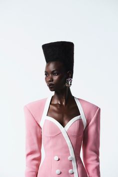 Pink Power, Young Black, Black Artists, High Fashion, Fashion Beauty, Women's Fashion, Black History Month, Contemporary Fashion, Creative Director