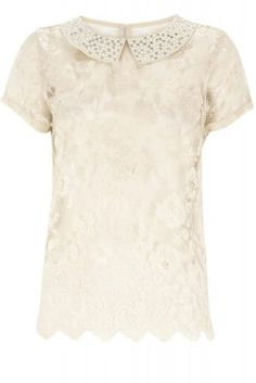 Classy lace-top with peter pan collar by Warehouse <3