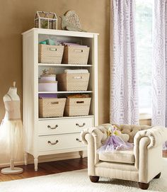 Open storage is a great way to display keepsake and touches of gold