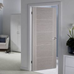 Bespoke Light Grey Vancouver Door Prefinished Contemporary Internal
