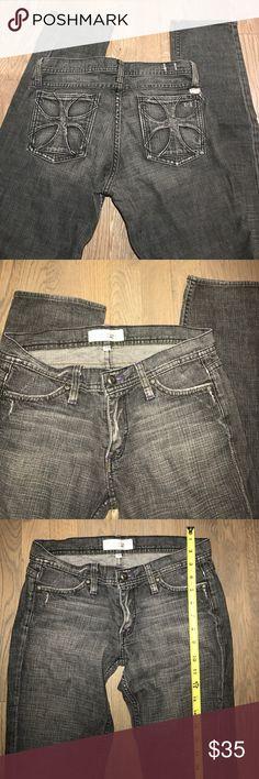 Habitual gray jeans Habitual with cross pockets. Size 28. Grayish color. Not super skinny more like skinny/straight leg Habitual Jeans Boyfriend