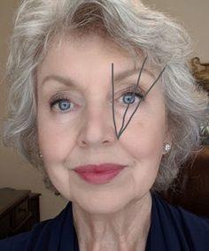 eye makeup for older women over 50 grey hair * eye makeup for older women over 50 Beauty Make-up, Beauty Hacks, Hair Beauty, Beauty Tips, Beauty Products, Natural Beauty, Skin Products, Organic Beauty, Beauty Skin