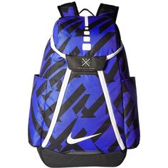 2fb699d9a0fe Nike Hoops Elite Max Air Backpack (Paramount Blue Black White)... (£72) ❤  liked on Polyvore featuring bags