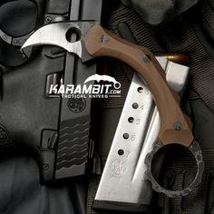 R.S. Knifeworks Coyote Brown G10 Dirty Girl Karambit