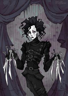 Tim Burton Characters, Tim Burton Films, Fictional Characters, Edward Scissorhands, Corpse Bride, Hippie Art, Pigment Ink, Johnny Depp, Sleeve Tattoos