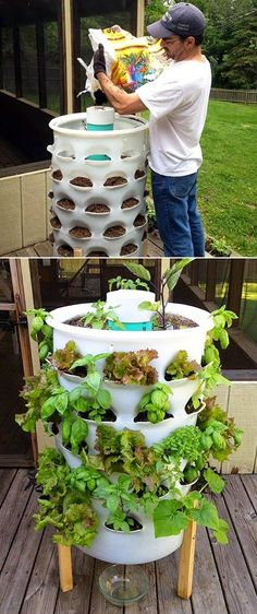 101 Gardening: The Garden Tower Project #Container_gardening