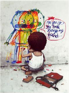 Dran: Use work Behavior company Murals Street Art, Street Art Graffiti, Graffiti Artwork, Banksy, Amazing Street Art, Best Street Art, Urbane Kunst, Illustration, Cute Disney Wallpaper