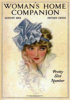 Woman's Home Companion magazine cover from August 1914 by Henry Hutt