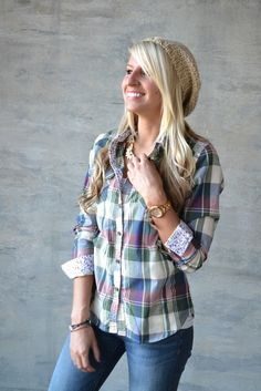Small Town Plaid Top - darling