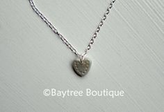Small polymer clay heart pendent necklace by BaytreeBoutique, £16.00
