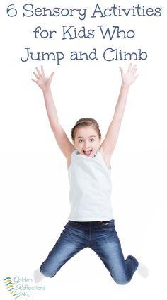 Sensory Activities for Kids Who Climb and Jump 6 fun sensory activities for kids who love to jump and climb on everything. 6 fun sensory activities for kids who love to jump and climb on everything. Gross Motor Activities, Gross Motor Skills, Sensory Activities, Sensory Play, Learning Activities, Activities For Kids, Sensory Motor, Activity Ideas, Sensory Tools