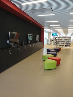 Gaming area in Youth Services, Halifax Central Library (NS)