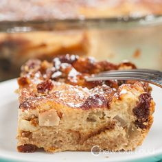 Hawaiian Apple Bread Pudding ~This Hawaiian Apple Bread Pudding is over the top scrumptious!  Made with King's Hawaiian Sweet Bread, apples, and an applesauce custard, this bread pudding is the perfect breakfast or dessert for your weekend.
