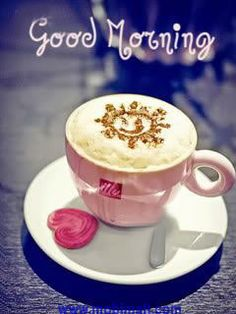 I love cappuccino! Good Morning Coffee, Good Morning Sunshine, Good Morning Friends, Good Morning Good Night, Good Morning Wishes, Good Morning Images, Good Morning Quotes, Coffee Break, Morning Morning