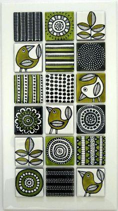 Most current Photographs pottery designs sgraffito Tips Jocelyn Proust Designs, Musterdesign, handbemalte Fliesen Painting Ceramic Tiles, Pottery Painting, Tile Art, Ceramic Art, Painted Tiles, Wall Tiles, Fabric Painting, Sgraffito, Madhubani Painting