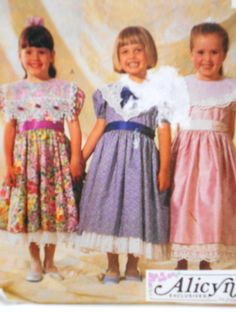 Little Girls Special Occasion Dress, McCalls Pattern 6805, Size 6, Alicyn Exclusives by StitchKnit on Etsy