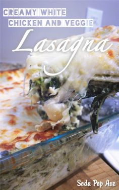 This creamy white lasagna is incredible! It's got spinach, artichokes, red onions, cream cheese, and so much more. I'm pretty sure I will be making this more than my regular lasagna! Click for recipe. www.sodapopave.com