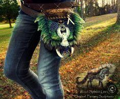 Sold- Hand Made Fantasy Belt Pack! by Wood-Splitter-Lee.deviantart.com on @deviantART