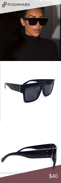 d0ee0222752 Kim kardashian Square black frame sunglasses As seen Kim k wears these they  are similar to the Celine ones. Very good quality with an affordable price  ...