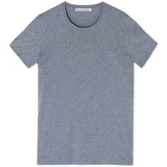Acne Studios Short Sleeve T-Shirt ($110) ❤ liked on Polyvore featuring tops, t-shirts, grey, grey top, short sleeve t shirts, gray tee, gray top and grey t shirt
