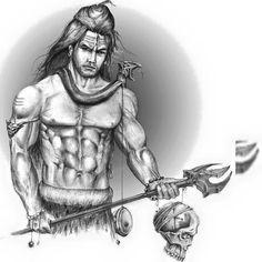 Band Tattoo Designs, Small Tattoo Designs, Shiva Art, Shiva Shakti, Lord Shiva Sketch, Trishul Tattoo Designs, Pencil Drawing Images, Name Tattoos For Moms, 1 Tattoo