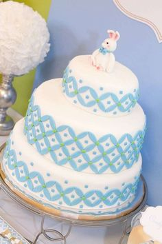 Modern circle baptism party! See more party planning ideas at CatchMyParty.com!