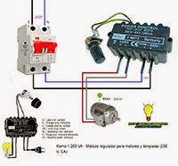 Esquemas eléctricos: Módulo regulador para motores y lamparas -230V.VCA...