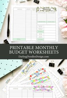 A Full Year Of Printable Budget Worksheets To Help You Keep Track Of Your Income