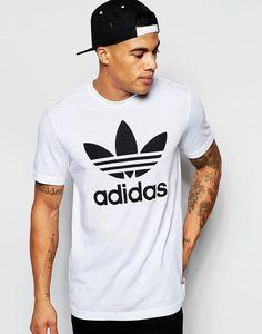 dc5f31e7bd Super fede adidas Originals T-Shirt With Trefoil Logo - White adidas  Originals T-Shirts til Herrer i dejlige materialer