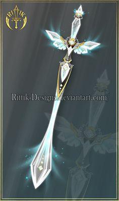 Crystal Wing, sword adopt (CLOSED) by Rittik-Designs on DeviantArt Sword Drawing, Sword Art, Fantasy Sword, Fantasy Art, Espada Anime, Armas Ninja, Sword Design, Anime Weapons, Fantasy Drawings