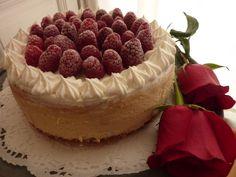 Cheesecake de chocolate blanco y frambuesas