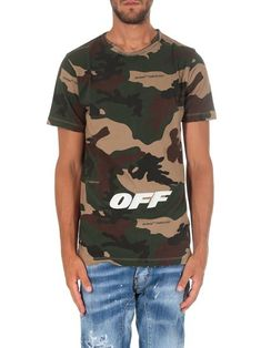 7fd61578988c Off-White Fall Winter 18 19 camouflage s s t-shirt - OMAA027E181850219901