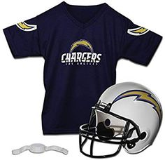 Amazon.com   Franklin Sports NFL Los Angeles Chargers Helmet Jersey Set    Sports   Outdoors ff574316e