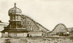 A Big Dipper roller coaster.