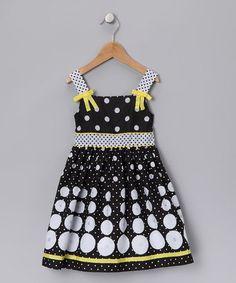 Black Polka Dot Tie Dress