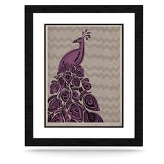 "Brienne Jepkema ""Peacock Purple"" Lavender Gray KESS Naturals Canvas (Frame not Included)"