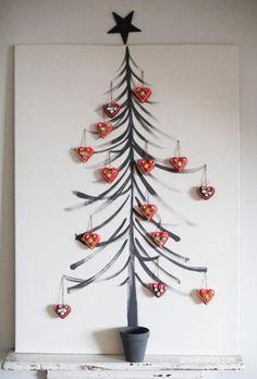 Alternative decorated Christmas Trees | handmade christmas decorations, christmas tree for wall decoration