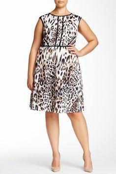 Sleeveless Print Dress (Plus Size) by Sandra Darren on @nordstrom_rack