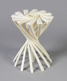 From Cooper Hewitt, Smithsonian Design Museum , Patrick Jouin, Solid chair Stereolithography-formed epoxy resin, × 40 × 45 cm Collapsible Stool, Folding Stool, Design Museum, Furniture For Small Spaces, Three Dimensional, Design Art, Furniture Design, Objects, Chairs