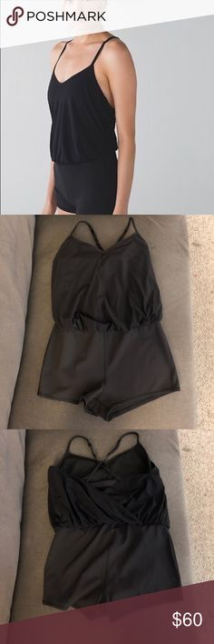 Lululemon Hot Yoga Romper Barre Black Luxtreme Lululemon Hot Yoga Romper. No pads. Dance to yoga leotard romper. lululemon athletica Other