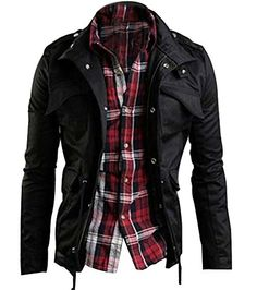 5317a4f1b Mens Jackets Sale Multi Pocket Jacket Mens Black Jacket Mens Fashion Clothing  Jackets from Apparel   Accessories on…