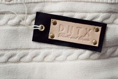 leather hangtag