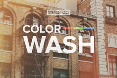 ColorWash Faded Photoshop Actions by FilterGrade on Creative Market