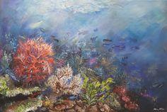 Aquatic I/ painting, acrylic on canvas