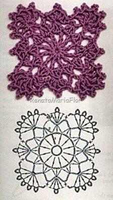 Captivating All About Crochet Ideas. Awe Inspiring All About Crochet Ideas. Crochet Squares, Crochet Motif Patterns, Crochet Lace Edging, Crochet Diy, Granny Square Crochet Pattern, Crochet Diagram, Freeform Crochet, Thread Crochet, Irish Crochet