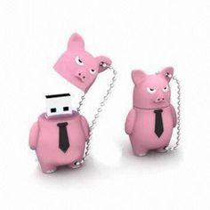 Personalised Pink Pig Shaped USB Flash Drives
