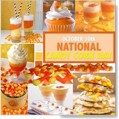 National Candy Corn Day * October 30th by calamity-jane-always on Polyvore featuring interior, interiors, interior design, home, home decor, interior decorating, Yankee Candle, Halloween, homedecor and candycorn