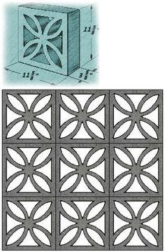 thuydao_arch: Mid Century Decorative Concrete Screen Block